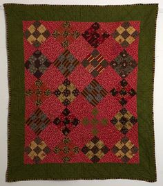 Nine Patch/Reversible Crib Quilt: Ca. 1880; Pa.