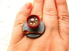Kawaii Cute Japanese Ring Soup Cherry Blossom Ring
