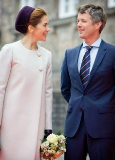 Danish Crown Prince Frederik and Crown Princess Mary attend the opening of the parliament in Copenhagen, Denmark, 07.10.2014.