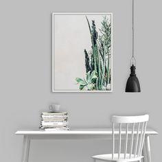Mint Green Cactus, Coastal Print, Coastal Wall Art, Mint Green Poster, Succulent Wall Art, Succulent Print, Botanical, Printable Wall Decor