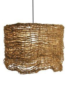 Zentique  Jute Net Hanging Light  (Short)  $195 Gilt
