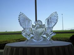 Atlanta Ice Sculptures - The Eagle has landed !