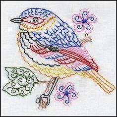 Embroidery Bird 05