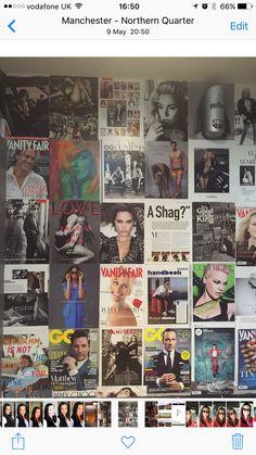 Magazine wallpaper wallart