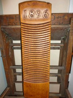Hand Carved and Dated Washboard