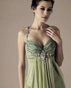 Or, a green wedding dress.
