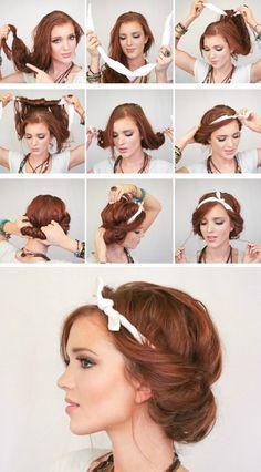 easy headscarf roll