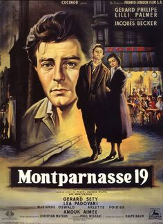 Directed by Jacques Becker.  With Gérard Philipe, Lilli Palmer, Lea Padovani, Gérard Séty. Biographic movie about the last year of the famous Italian painter Modigliani. Modigliani, a poor painter in Paris of 1919, falls in love with a daughter from a wealthy family. Her parents are against their relation and stop financial help.