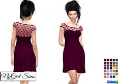 Strapless Dress with Lace Crop Overlay at NyGirl Sims via Sims 4 Updates