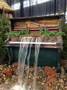 Piano fountain!