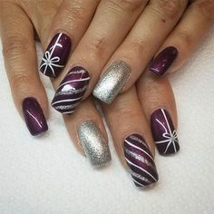 125 bright and awesome christmas nails art design – page 18 Loading. 125 bright and awesome christmas nails art design – page 18 Christmas Present Nail Art, Holiday Nail Art, Winter Nail Art, Winter Nails, Plaid Nail Designs, Christmas Nail Art Designs, Gel Nail Designs, Nails Design, Christmas Design