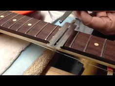 How To Crown Guitar Frets With A Cheap 3-Corner File - YouTube