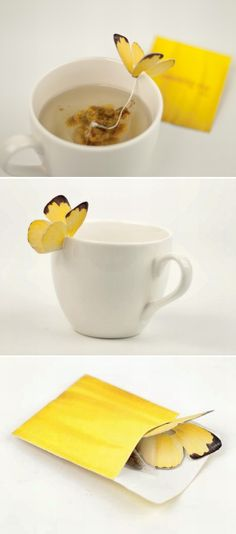 Butterfly Tea Bag by Yena Lee
