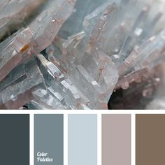 Pastel tones in a gray gamma with a warm touch of smoky brown. This combination of colours is suitable for interior and furniture in the industrial style,.