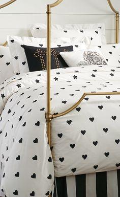 The Emily + Meritt Heart And Star Duvet Cover + Sham $29.50 – $109 Visit bit.ly/emilyandmerittforpbteen Or call 1-866-472-4001 to pre-order this item.