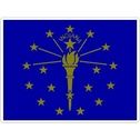 State Of Indiana - Vinyl Flag Sticker