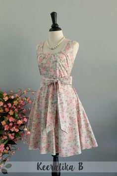 Welcome to Lovely Melody Clothing Shop  Find your beautiful dress with Best quality made with love !  Details ::  - Pastel floral sundress