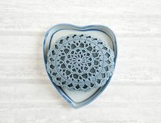 crochet lace stone // rustic beach // river rock // housewarming gift // cottage chic // Wedding decor // ring bearer pillow // bowl element on Etsy, $28.00
