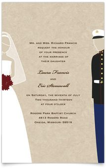 Flat Rectangle Wedding Invitations - Military Themed - Marines These are my invitations! Only air force!