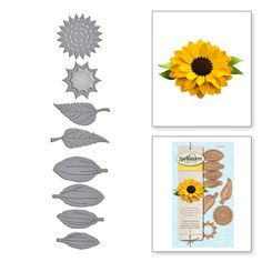 3X Sunflowers Dies Metal Cut Stencil DIY~For Scrapbooking Paper Card Decor^