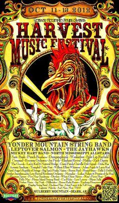 YMSB HARVEST FEST  Ozark, AR  http://www.yonderharvestfestival.com/    Yonder Mountain String Band  Leftover Salmon  Mickey Hart Band  North Mississippi Allstars  Sam Bush  and more.....    via Street Shimon