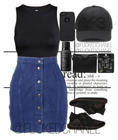 """"""" Jealousy in the air tonight, I could tell I will never understand that but oh, well """" by fuckedchanel ❤ liked on Polyvore featuring Forum, H&M, Y-3, OtterBox, Thierry Mugler, Living Proof, Topshop, Carven and DRAKE"""
