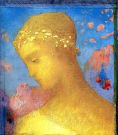 Beatrice  Artist: Odilon Redon  Completion Date: 1885  Style: Symbolism  Genre: portrait  Technique: pastel  Material: paper  Gallery: Private Collection