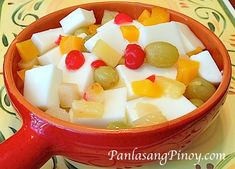 Almond Jelly with Fruit Cocktail Recipe