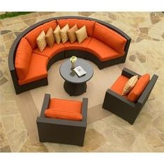 Explore more about Outdoor Wicker Curved Sectional and Club Chairs Lovely Curved Outdoor Sectional sofa and related Category under Fresh Curved Outdoor Sectional Sofa. Outside Furniture, Outdoor Wicker Furniture, Outdoor Decor, Outdoor Seating, Teak Furniture, Modular Furniture, Furniture Refinishing, Paint Furniture, Repurposed Furniture