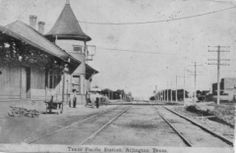 The Arlington train station Photo Scan, Arlington Texas, Texas History, Interesting History, Train Station, Fort Worth, Old Pictures, Locomotive, Washington Dc