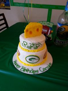 Wondrous 30 Best Green Bay Packers Cakes Images Packers Cake Green Bay Personalised Birthday Cards Rectzonderlifede