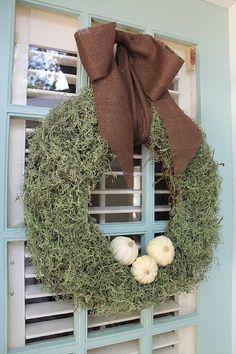 Accessorize and Organize: DIY Moss Wreath