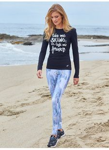 Take me skiing or lose me forever T-Shirt and Mountain High Compression Legging