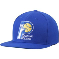3c3271b7ec4 Men s Indiana Pacers Mitchell  amp  Ness Royal Wool Solid 2 Adjustable Snapback  Hat