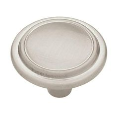 Satin Nickel Top Ring Cabinet Hardware 1-1/4 in. Round Knob - P40052J-SN-C at The Home Depot