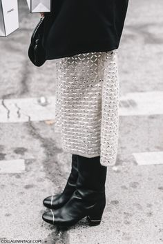 Street Style Paris Couture III   Collage Vintage // Chanel