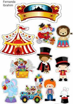 Circus for Babies Free Printable Cake Toppers. - Oh My Baby! 14th Birthday, Circus Birthday, Birthday Parties, Mulan 3, Decoration Cirque, Circus Crafts, Circus Theme Party, Circus Wedding, Retro 9