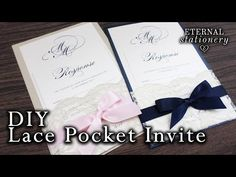 Create Your Own Quinceanera Invitations Best Of How to Make Your Own Lace Pocket Wedding Invitations Make Your Own Wedding Invitations, Unique Wedding Invitation Wording, Diy Wedding Stationery, Pocket Wedding Invitations, Reunion Invitations, Diy Invitations, Invites, Quinceanera Invitations, Wedding Cards