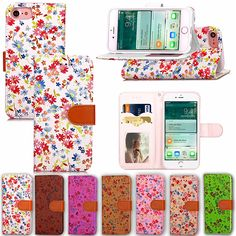 NEW For iphone 7 Case PU+ TPU Cover For iphone 7 Plus Multi-color Floral Phone Protection stand Shell i7 4.7 5.5 with card slot