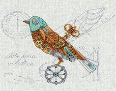 Набор для вышивания Panna М-1871 Птица механическая