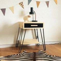 Mid century Bedside table nightstand by ChouetteFabrique on Etsy