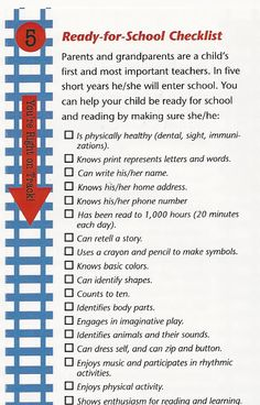 stuff your child should know beforethey go into kindergarten