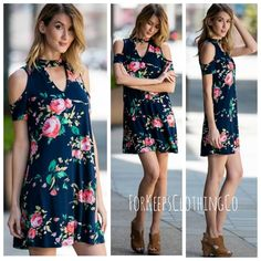 Omg ladies!! This dress is perfection!!!!!    Navy, floral print - jersey material - Made in the USA!!    Comes in S, M, L, XL    Limited stock - if sells quickly, will try and restock!!    $42.50 with FREE SHIPPING in the US! International orders welcome, rates will apply! | Shop this product here: http://spreesy.com/Forkeepsclothingco/382 | Shop all of our products at http://spreesy.com/Forkeepsclothingco    | Pinterest selling powered by Spreesy.com