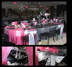 Fuchsia and Silver Holiday Table Design
