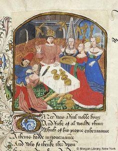 Medieval Manuscript Images, Pierpont Morgan Library, Confessio amantis. MS M.126 fol. 122r