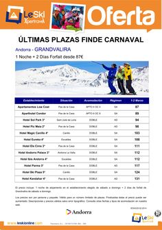 Grandvalira - Ultimas Plazas Finde Carnaval 1-2 Marzo desde 87 € ultimo minuto - http://zocotours.com/grandvalira-ultimas-plazas-finde-carnaval-1-2-marzo-desde-87-e-ultimo-minuto/