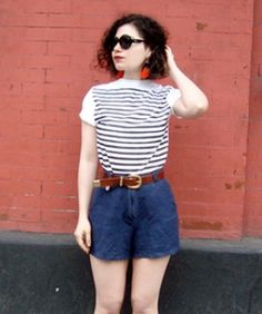 Make A DIY Breton Striped Shirt With Spray Paint!