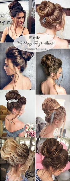 Elstile Long Wedding Updo Hairstyles - High Buns #weddinghairstyles