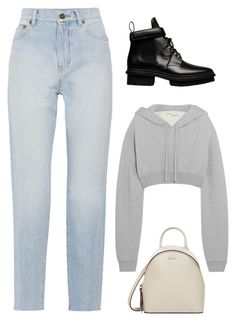 """""""Untitled #191"""" by cheyanne-tlittle ❤ liked on Polyvore featuring Yves Saint Laurent, Off-White, DKNY and Balenciaga"""