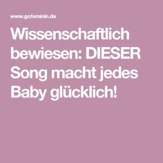 Wissenschaftlich bewiesen: DIESER Song macht jedes Baby glücklich!